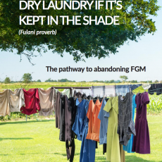"""THE SUN CAN NEVER DRY LAUNDRY IF IT'S KEPT IN THE SHADE"""