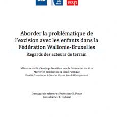 Aborder la problématique de l'excision avec les enfants dans la Fédération Wallonie-Bruxelles