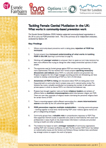 Tackling Female Genital Mutilation in the UK: What works in community-based prevention work