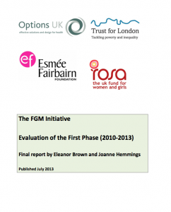 The FGM Initiative Evaluation of the First Phase (2010-­‐2013) Final report by Eleanor Brown and Joanne Hemmings