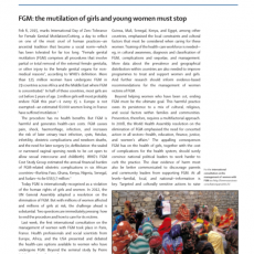 FGM: the mutilation of girls and young women must stop