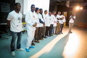Idrissa et les autres relais MSO lors de l'événement de clôture